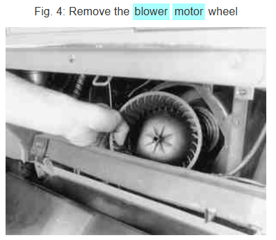blower motor removal diagram