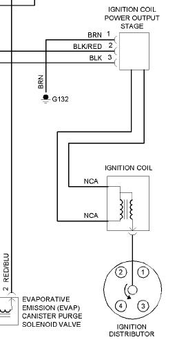 1996 VW Golf Coil wiring diagram