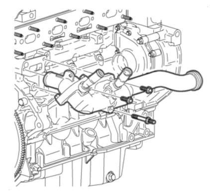 2002 Saturn L100 4 cylinder engine thermostat location diagram