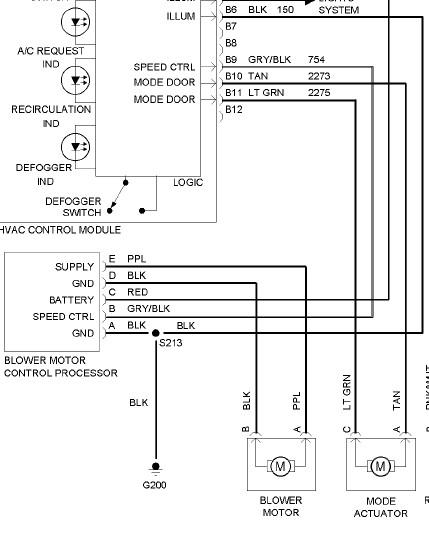 2004 Pontiac Grand Prix blower motor wiring diagram