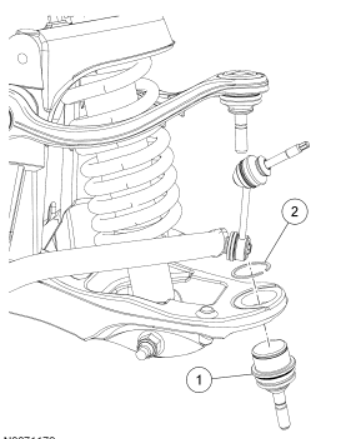 2005 Ford Crown Victoria Ball Joint illustration