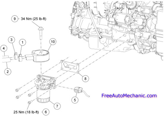 2005 Ford Escape Oil Cooler Illustration Diagram