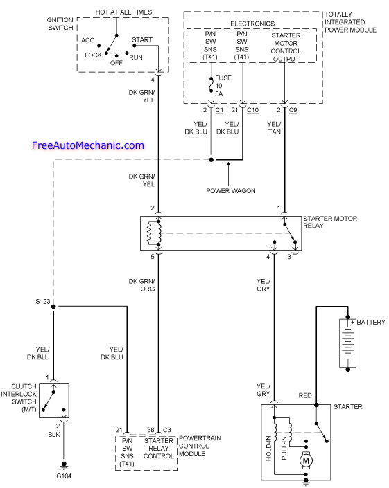 2006 dodge ram 1500 starting sytem wiring diagram 2006 dodge ram 1500 freeautomechanic 06 dodge ram wiring diagram at gsmx.co