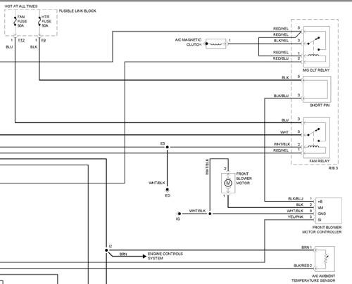 2006 Toyota Sienna Blower motor wiring diagram