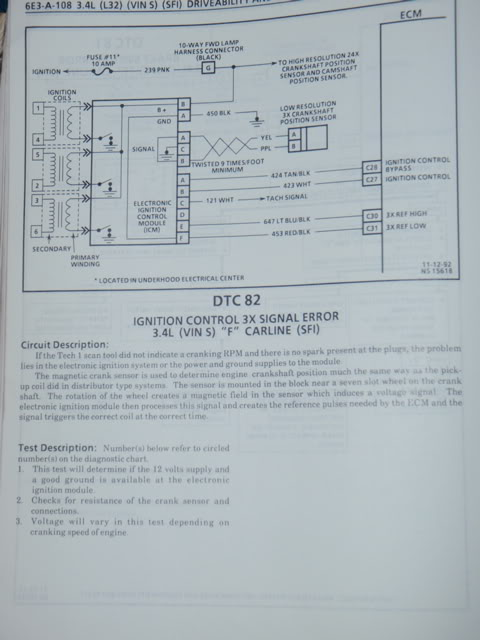 Chevy engine code 82 ignition control 3x signal error description