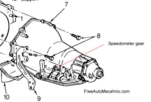 Chevy Transmission diagram