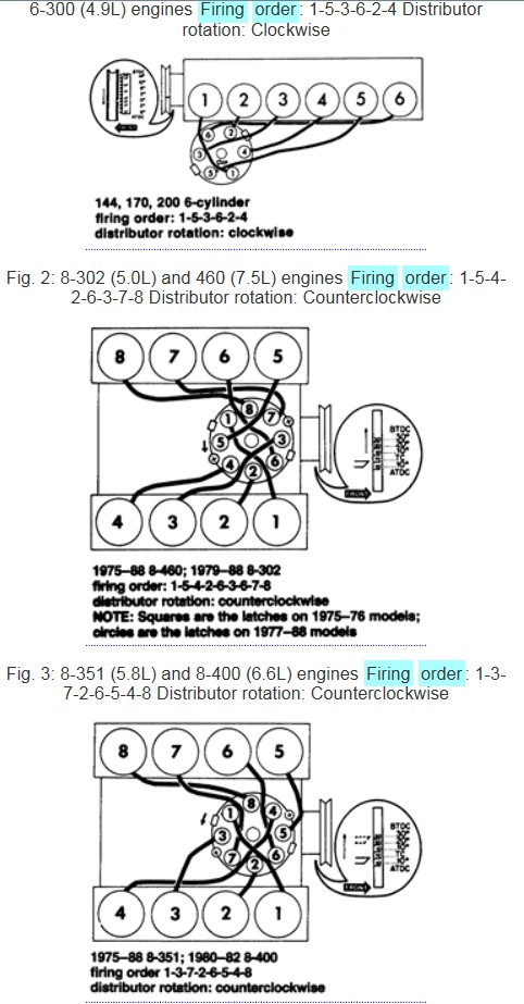 1974 ford 302 firing order. Cars Review. Best American Auto & Cars Review