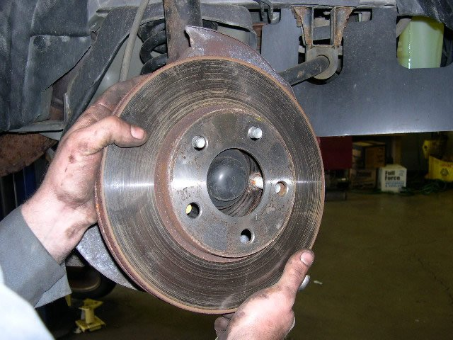 check front brake rotors freeautomechanic
