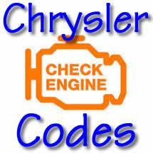Chrysler Trouble Codes