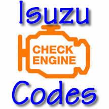 Isuzu Trouble Codes