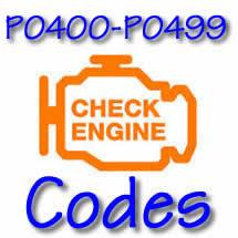 P0400 - P0499 OBD II Diagnostic Codes