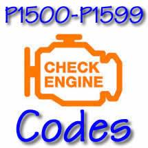 P1500 - P1599 OBD II Diagnostic Codes