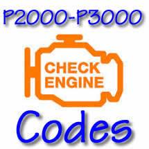P2000 - P3000 OBD II Diagnostic Codes