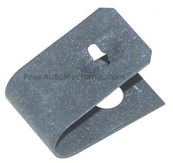 rear drum brake c clip shoe retainer pic