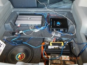 batteries were thrown away due to dead cells and the amp and speakers have been disconnected as well as the radio