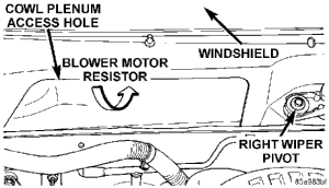 blower motor resistor location diagram 1999 dodge durango