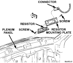 blower motor resistor location diagram