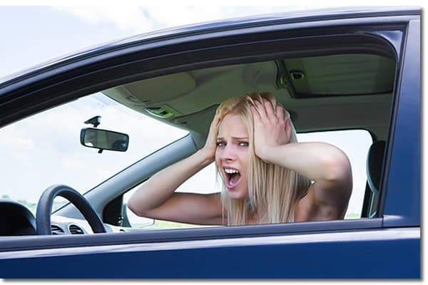 Driving car blowjob