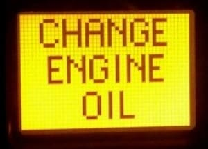 reset oil change light