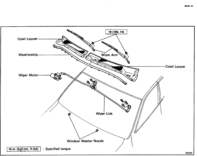 windshield wiper motor diagram