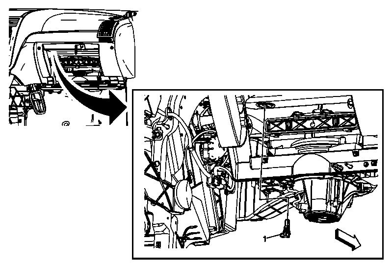 Air temperature sensor location 2014 Buick Enclave
