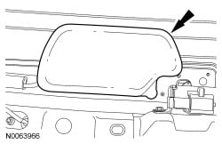 rear wiper motor trim 2011 Ford Escape