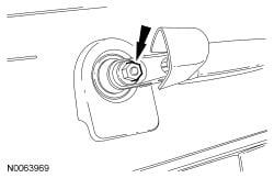 rear wiper arm nut 2011 Ford Escape