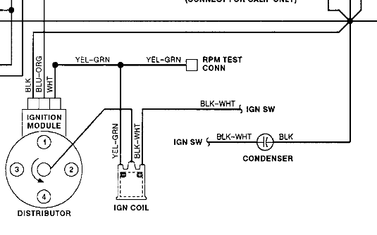 distributor coil diagram 1992 Ford Festiva