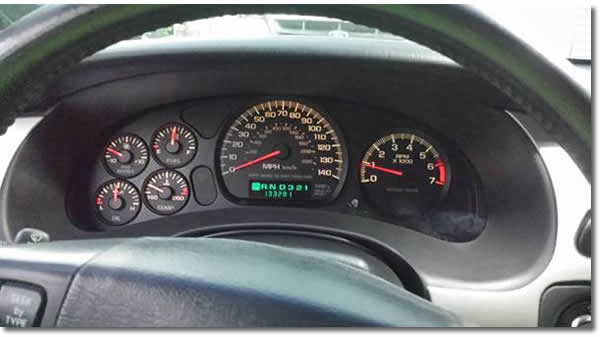 Dash Lights 2004 Chevy Monte Carlo SS