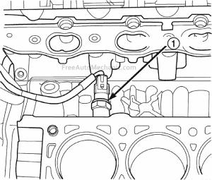 knock sensor location 2.7L engine 2004 Dodge Stratus