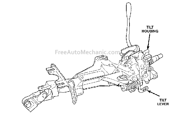 steering column 1999 Chrysler 300M