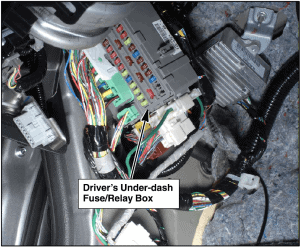 2009 Honda Accord under-dash fuse box