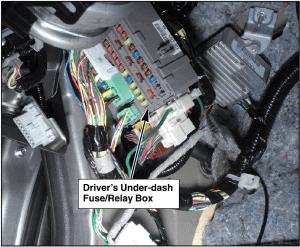 2009 Honda Accord under-dash fuse box