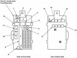Accessory Port relay diagram 2009 Honda Accord