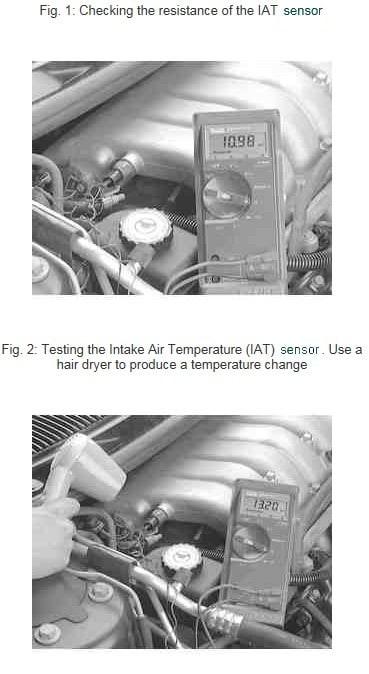 IAT Sensor Testing 1995 Dodge Stratus