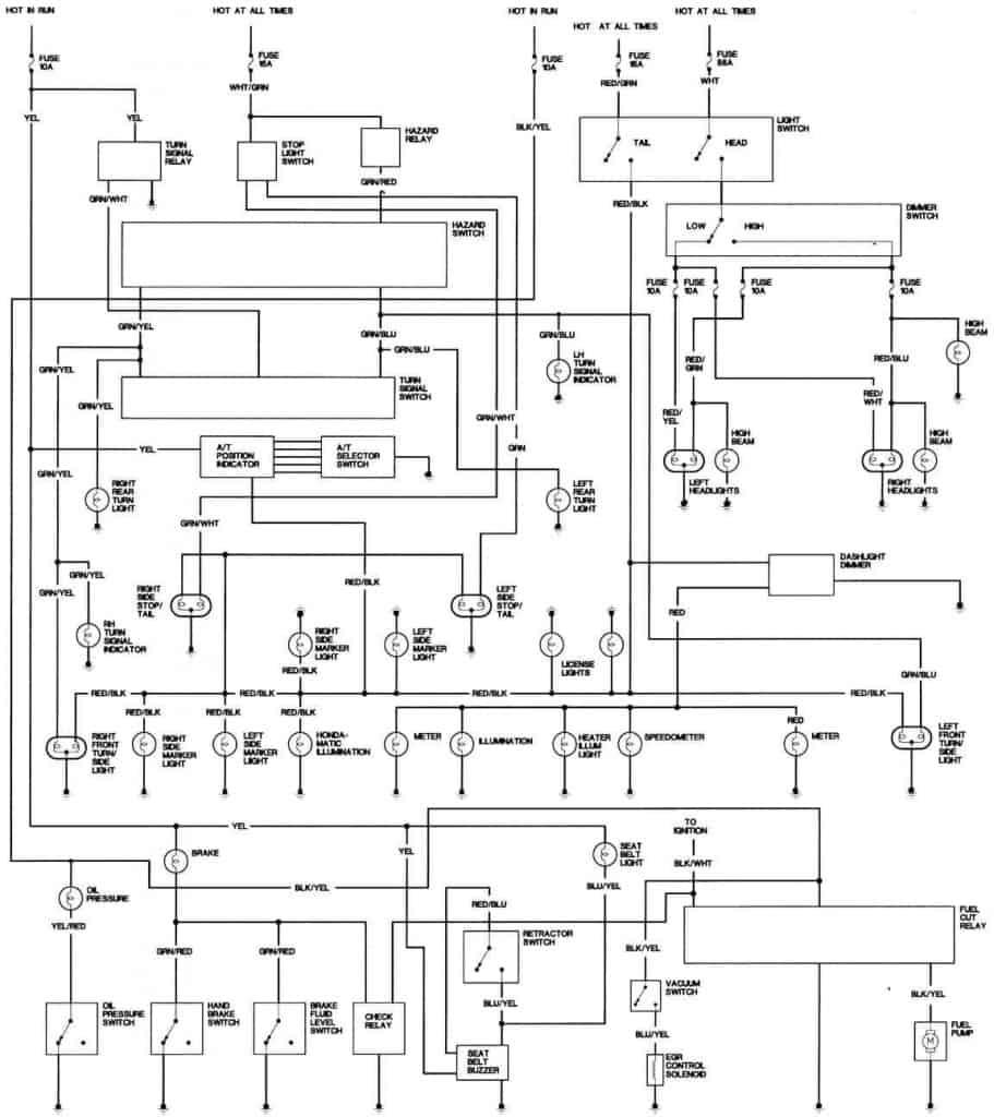 1981 Honda Accord California Body Wiring Diagram