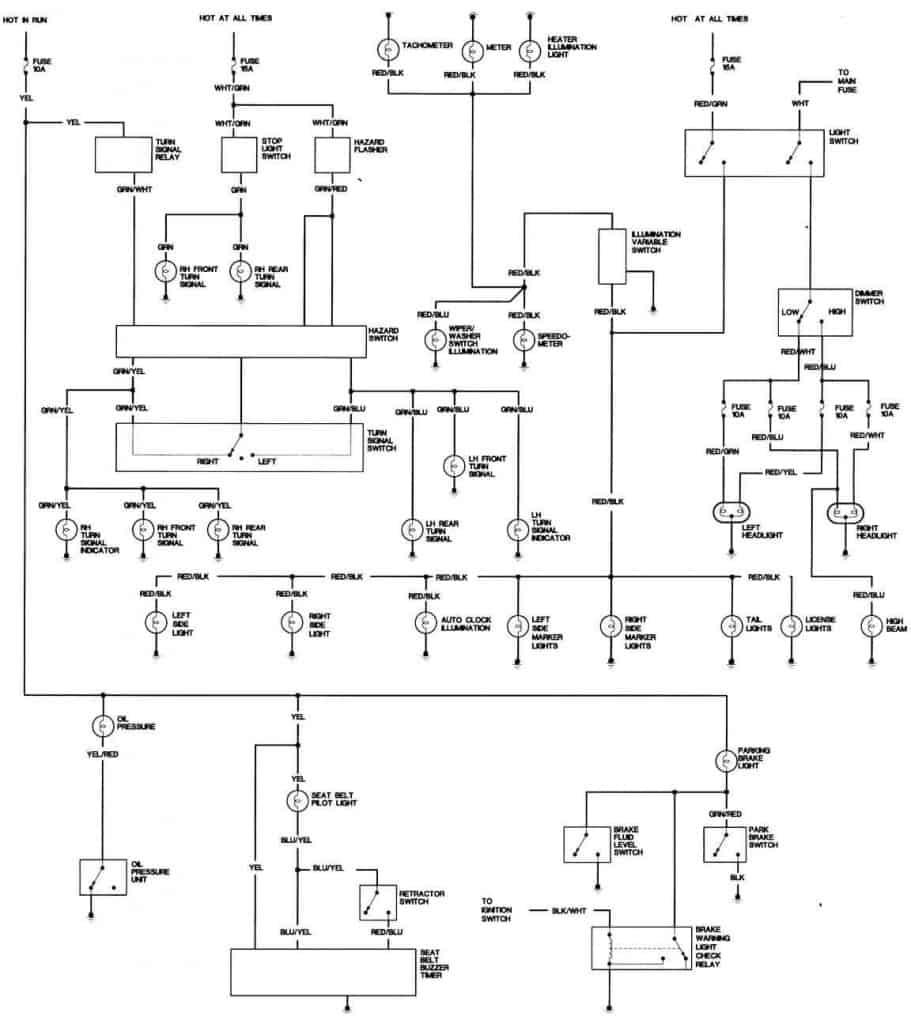1981 Honda Civic Body Wiring Diagram