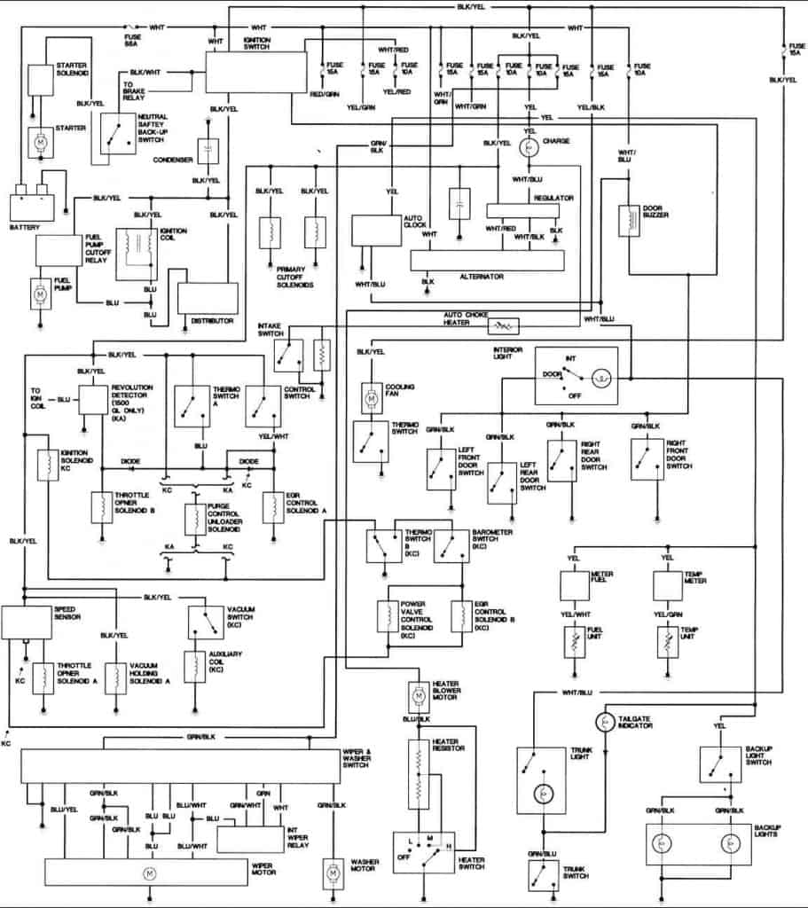 1989 Honda Civic Wiring Diagrams