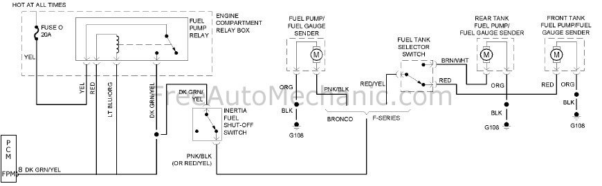 1994 ford f150 dual fuel tank wiring diagram dual fuel tank 1994 f150 xlt freeautomechanic 1994 ford f150 xlt wiring diagram at n-0.co