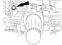 oil pressure switch location - oil light flickers
