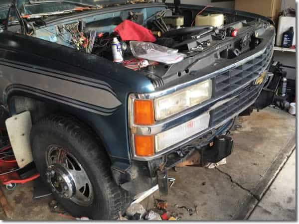 backfire through TBI 1992 GMC 3500