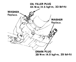 drain and fill plug manual transmission 2000 Honda Civic
