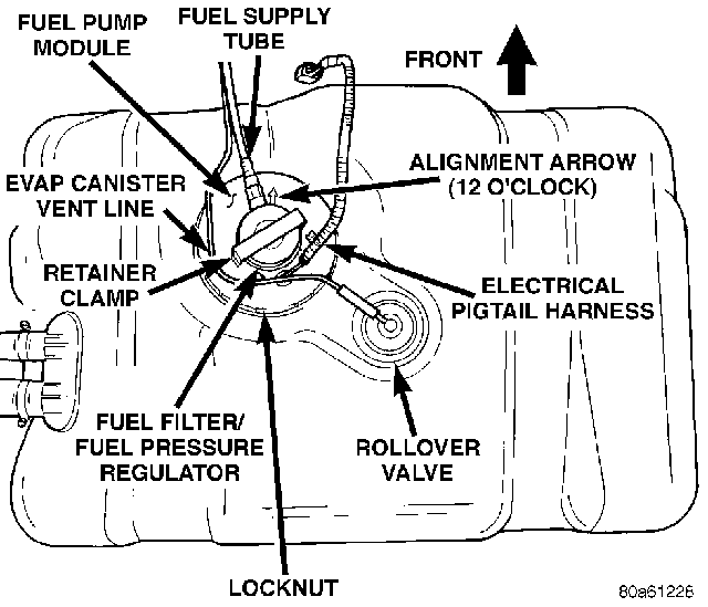 fuel pressure regulator location diagram 1998 Jeep Grand Cherokee
