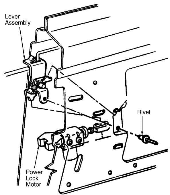 door lock diagram 1996 Chevy Suburban