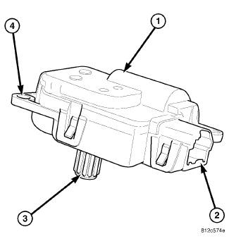 Blend Door Actuator 2012 Dodge Avenger