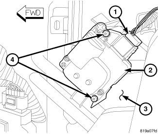 Left Sift Blend Door Actuator 2012 Dodge Avenger