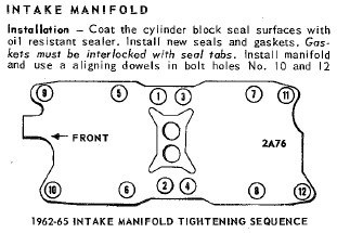 intake manifold tightening sequence