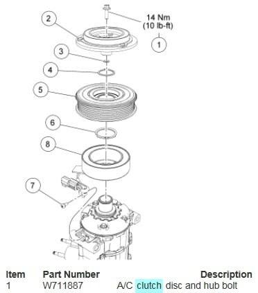 ac compressor clutch 2008 Ford Explorer