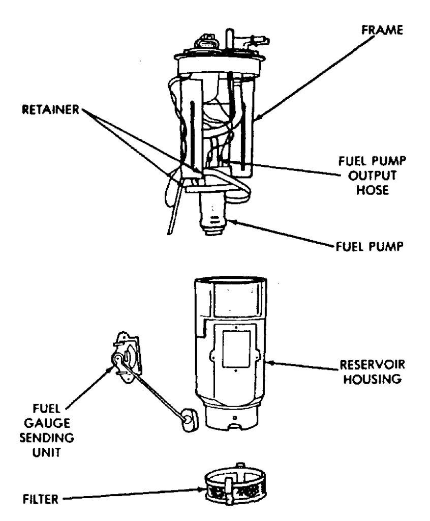 Fuel pump diagram 1993 Dodge W150
