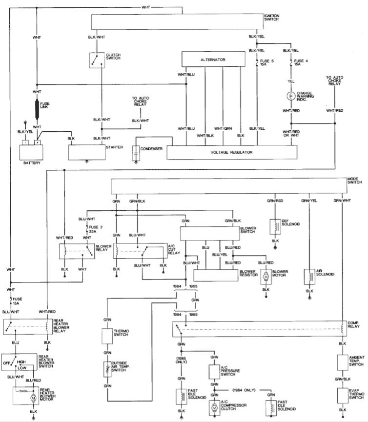diagram 1999 isuzu rodeo starter wiring diagram full